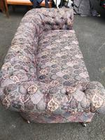 Antique English Upholstered Chesterfield Sofa (7 of 12)
