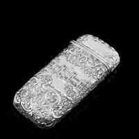 "Antique Solid Silver Victorian Cigar Cheroot Case ""Castle Top"" Windsor Castle Design - Nathaniel Mills 1844 (3 of 12)"