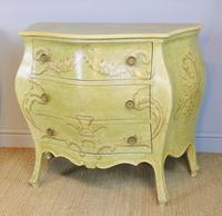 Vintage Italian Painted Bombe Commodes Harrods (10 of 10)