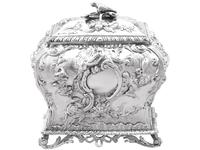 Sterling Silver Tea Caddy - Antique George III 1762