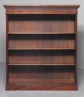 Late Edwardian Mahogany Open Bookcase (2 of 9)