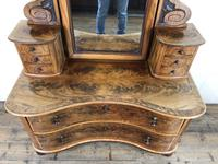 Antique 19th Century Concave Mahogany Dressing Table (6 of 21)