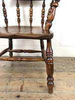 Antique 19th Century Ash & Elm Smokers Bow Chair (7 of 12)