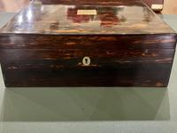 Fine Quality Victorian Coromandel Card / Cribbage Box (2 of 5)
