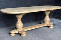 Bleached Oak Farmhouse Dining Table (7 of 12)
