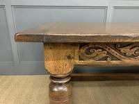 Large Oak Jacobean Revival Refectory Table (12 of 12)