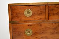 Antique Yew Wood Military Campaign Chest of Drawers (7 of 13)