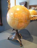 """1930's 12"""" Plaster Terrestrial Globe on Stand (7 of 8)"""