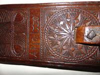 Carved Fruitwood Freizland Mangelplack, Dated 1720 (3 of 7)