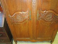French 19th Century Oak Armoire (5 of 8)