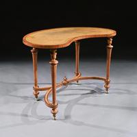 Fine 19th Century Satinwood Kidney Shape Side Writing Table In The Manner Of Gillows (3 of 11)
