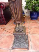 2 Bronze Art Nouveau Style Lamps (5 of 12)