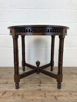 Antique Walnut Circular Centre Table (3 of 10)