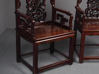 Pair of Chinese Qing Dynasty Hongmu Throne Chairs (10 of 12)
