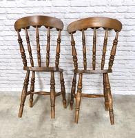 Pair of Windsor Spindleback Kitchen Chairs (5 of 5)
