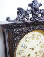 Rare Early Wall Clock Large Dial Rosewood 8 Day Striking Vienna Wall Clock (8 of 10)