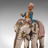 Antique Decorative Elephant and Rider, Indian, Hand Painted, Figure, Victorian (2 of 12)