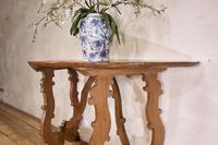 Charming 18th Century Italian Demi-Lune Lyre-Leg Fruitwood Table (8 of 13)