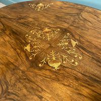 Spectacular Inlaid Walnut Antique Coffee Table (2 of 7)