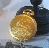 Vintage Pocket Watch 1970s Railroad 12ct Gold Plated West Germany Nos (6 of 11)