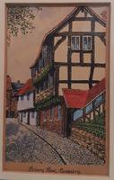 Water coloured Ink drawing of Coventry, Priory Row Mounted & Framed (2 of 3)