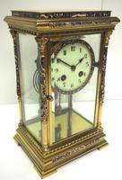 Awesome Antique French Champlevé Ormolu Bronze 8 Day Striking Mantel Clock c.1880 (3 of 13)