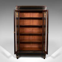 Tall Antique Vitrine Cabinet, English, Display Case, Bookcase - Regency (3 of 12)