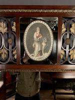 Superb early Austrian mahogany Biedermeier trumeau mirror (12 of 13)