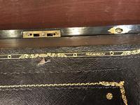 Burr Walnut Brass Inlaid Writing Box (2 of 17)