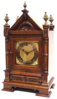 Superb Antique Solid Walnut 8-day Mantel Clock Ting Tang Striking Bracket Clock by W&H (2 of 12)