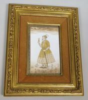 Good Pair of 19th Century Indian Paintings Aurangzeb & Dilras Banu Begum (3 of 11)