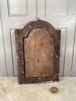 Antique French 18th Century wall mounted crucifix on gesso plaque (3 of 10)