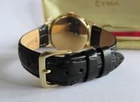 Gents 9ct Gold Cyma Wrist Watch, 1954 (6 of 6)