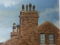 """Fine Oil Painting Architectural Entrance """"Micklegate Bar"""" York Signed F Chilton (13 of 31)"""