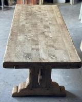Superb Rustic Large Bleached Oak Farmhouse Table with Extensions (5 of 36)