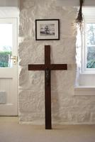 Large Oak Crucifix with Spelter Corpus Christi
