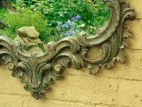 Solid Oak Hand Painted French Mirror (3 of 7)