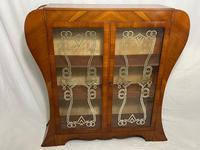 Art Deco Walnut Curved Bookcase Display Storage Cabinet (2 of 29)