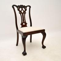 Set of 8 Antique Mahogany Chippendale Dining Chairs (2 of 14)