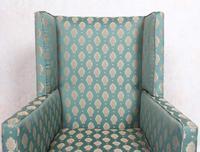 Lounge Chair Armchair Walnut Wingback Edwardian (5 of 12)