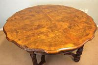 Antique Burr Walnut Extending Dining Table Eight Seater (8 of 14)