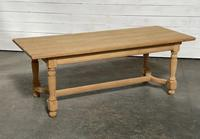 Nice Bleached Oak Farmhouse Dining Table (3 of 19)