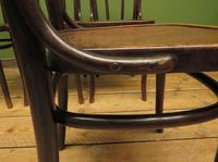 Four Antique Polish Thonet Style Bentwood Bistro Chairs with Pressed Seats (12 of 22)