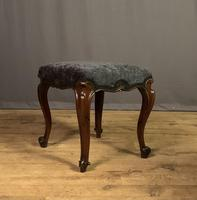 Useful Victorian Rosewood Stool (8 of 11)