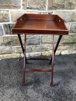 Antique Mahogany Butlers Tray on Stand (2 of 8)
