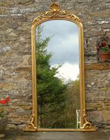 Large Antique French Arched Gilt Mirror of Unusual Size (3 of 8)
