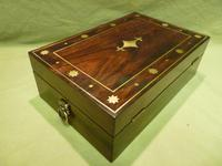 Regency Style Inlaid Rosewood Jewellery – Table Box c.1830 (10 of 11)