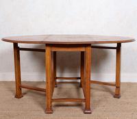 Oak Gateleg Dining Table Carved Solid Folding Kitchen Table (10 of 15)