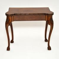 Antique Carved Walnut Card Table (10 of 10)