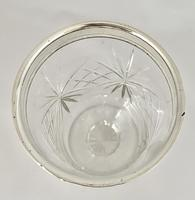 Superb Quality Silver Mounted Celery Vase. London 1921 (2 of 6)